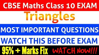 9 Most important question's of Triangles | Class 10 Maths
