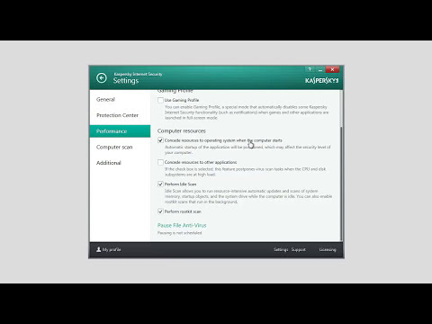 How to improve performance of your computer with Kaspersky Internet Security 2014 installed