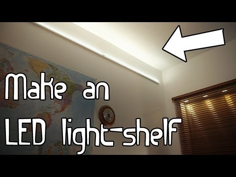 Build An Led Light Shelf Youtube
