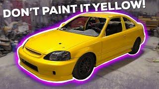 Pt.7 Turbo Honda Civic Build! - IT'S FULLY PAINTED!