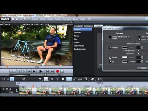 Tutorial Magix Video Deluxe: Texto 3D con animación