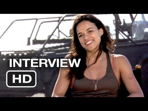 Fast & Furious 6 Interview - Michelle Rodriguez (2013) - Dwayne Johnson Movie HD