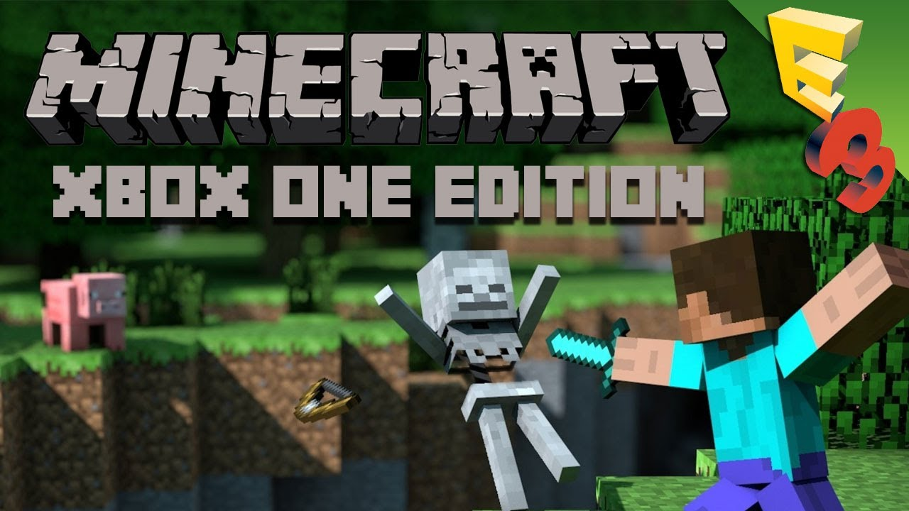 minecraft xbox one edition gameplay from microsoft 39 s e3. Black Bedroom Furniture Sets. Home Design Ideas