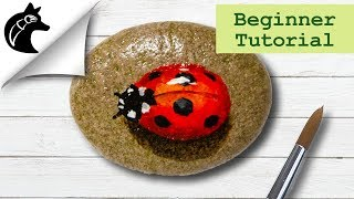 Rock Painting Tutorial For Beginners Ladybug