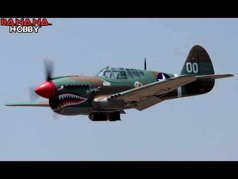 Super P-40E Warhawk Flight Review in HD! Huge 79'' Wingspan Warbird