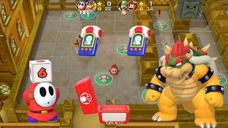 Super Mario Party Partner Party #349 Tantalizing Tower Toys Shy Guy & Bowser vs Luigi & Diddy Kong