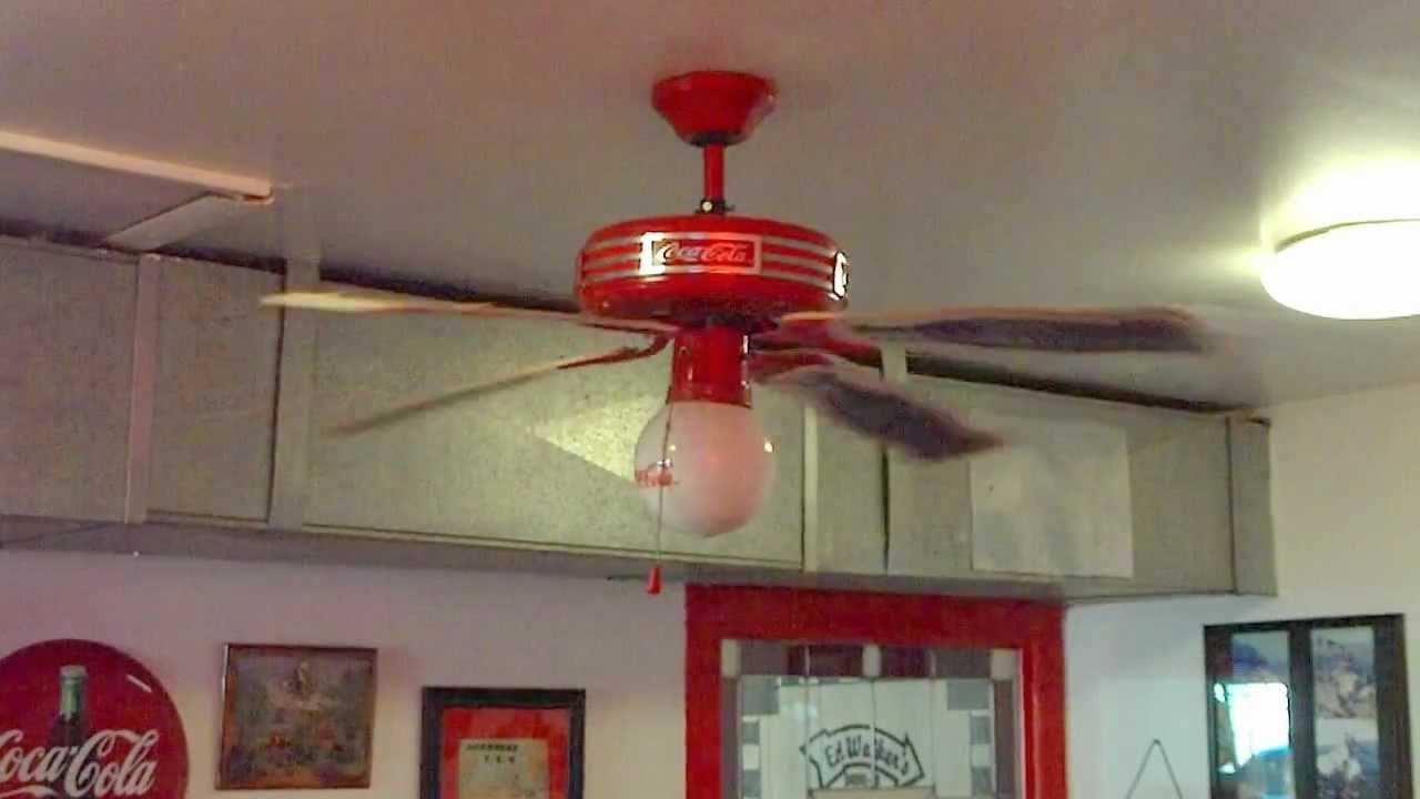"44"" Coca-Cola Ceiling Fan - YouTube"