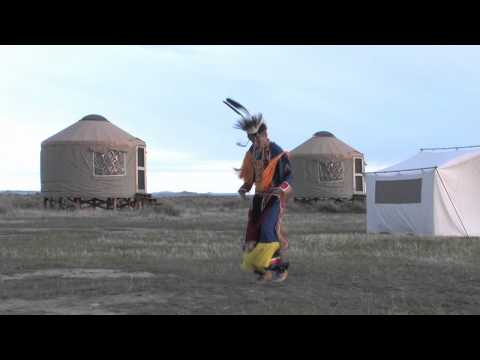 Native American Dancers On American Prairie Reserve video