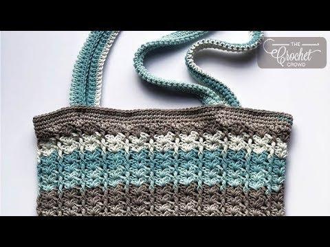 How to Crochet Easy V Bag