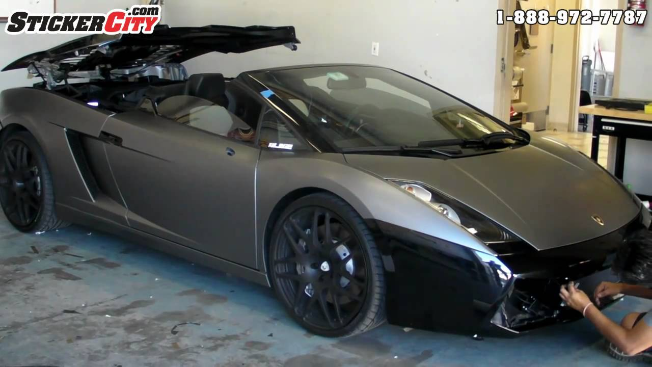 Satin Grey Lamborghini Gallardo Wrap Reventon Color Youtube