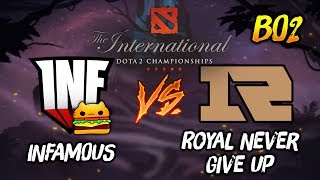 Infamous Gaming vs Royal Never Give Up ► The International Dota 2 2019 ( TI9 Day 4 ) 😎 | dota 2