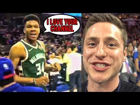 GIANNIS TOLD ME HE LOVES MY CHANNEL!
