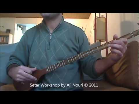 Persian Setar Workshop video 7: Lesson 21 to 25, Ketabe Aval Honarestan