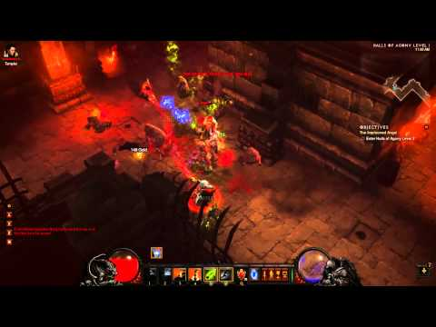 Diablo III Witch Doctor - 40k+ DPS Inferno Build example and gameplay
