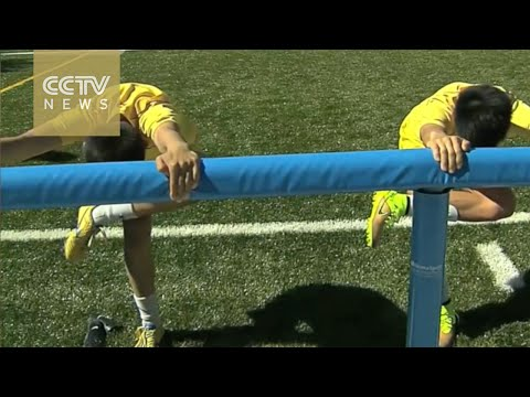 Chinese children football talents train in Madrid