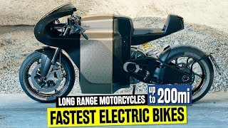 10 Fastest Electric Motorcycles w/ Longest Riding Range up to 200 Miles