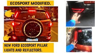 Ford EcoSport modified | New EcoSport Pillar lights and reflectors | New Ford EcoSport accessories