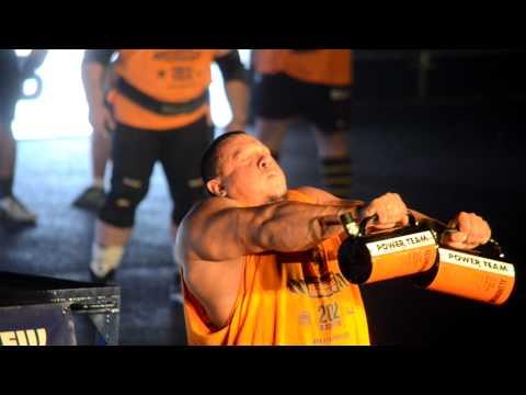 Михаил Кокляев удержание в руке 25кг Strongman Champions League