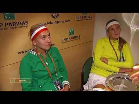 Interview with Victoria Azarenka and Elena Vesnina (in Russian) Video