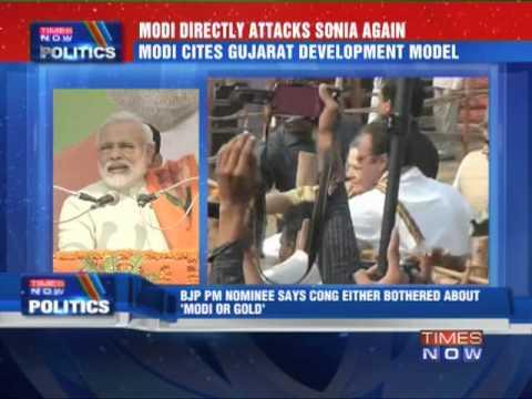Narendra Modi hits out at Sonia Gandhi