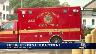 Firefighter dies after station accident