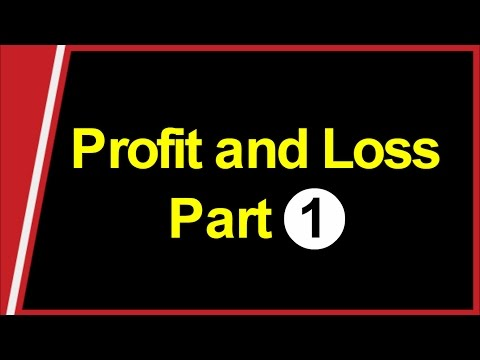 Profit and Loss Part 1 (Introduction) SBI Clerk , Bank PO , SSC CGL and Railway thumbnail