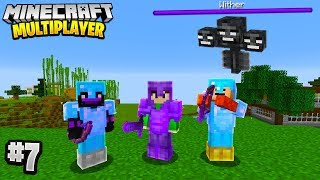 THE WITHER BATTLE in Minecraft Multiplayer Survival! (Episode 7)