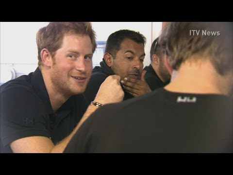 Prince Harry tucks into meal ahead of South Pole trek
