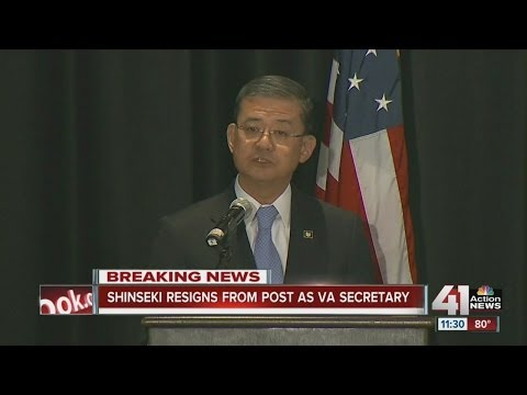 VA Secretary Shinseki resigning amid widespread troubles with veterans' health care