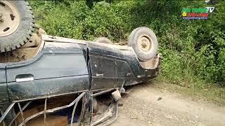 Đắk Nông: Tai nạn lật xe gỗ lậu, ngay sát Trạm Quản lí bảo vệ rừng