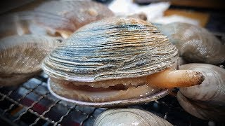 Grilling live clams in your room. (Korean Food Mukbang Review) [ENG Sub]