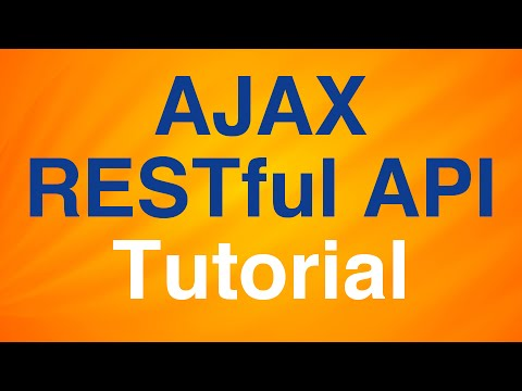 AJAX, RESTful API Tutorial - Perform CRUD Operations with Node server