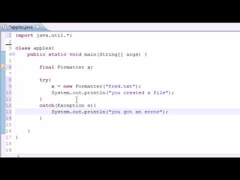 Java Programming Tutorial - 79 - Creating Files