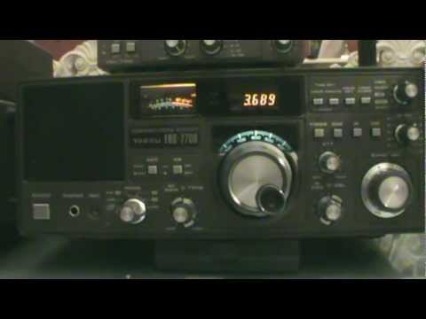 yaesu frg 7700 german amateurs on 80 meters