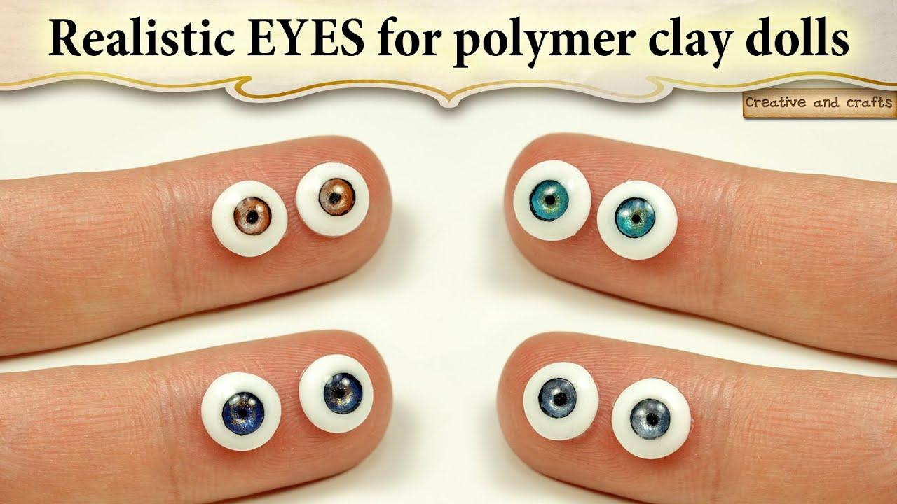 Глаза из полимерной глины своими руками