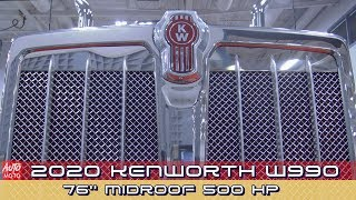 2020 Kenworth W990 76''MidRoof 500hp - Exterior And Interior - 2019 Atlantic Truck Show