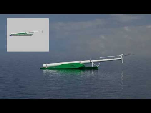 WindFlip - a specialized barge for transportation of floating wind turbines