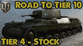 """Swedish Heavies - Tier 4 """"Lago"""" Stock - Road To Tier 10 - WoT Console"""