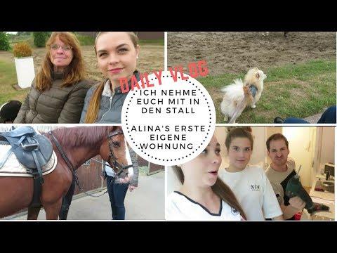 Ich nehme euch mit in den STALL | Alina's erste EIGENE Wohnung ! | Daily Vlog