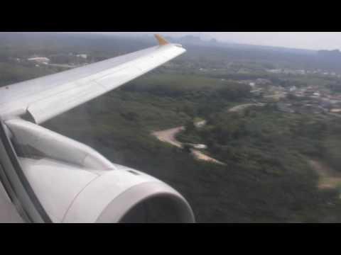 A320 go around at krabi airport - Tiger airways