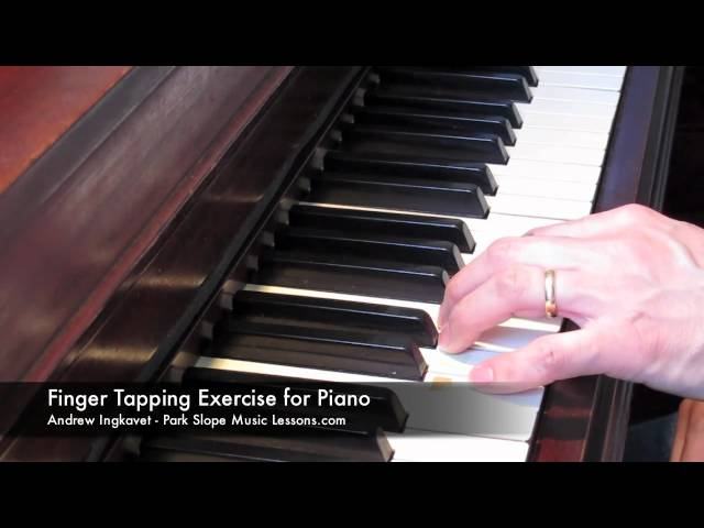 Piano Finger Tapping Exercise