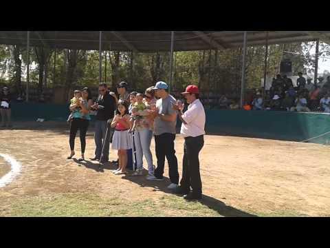 Homenaje al Pájaro Rodriguez en el Estadio de Potros de San Rafael, Guasave