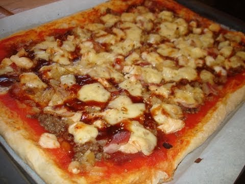 Pizza barbacoa casera (sin lactosa) / Lactose-free Barbacue Pizza