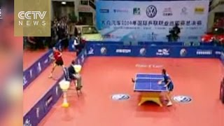 Watch: Epic encounter between Chinese table tennis players Wang Liqin and Ma Lin