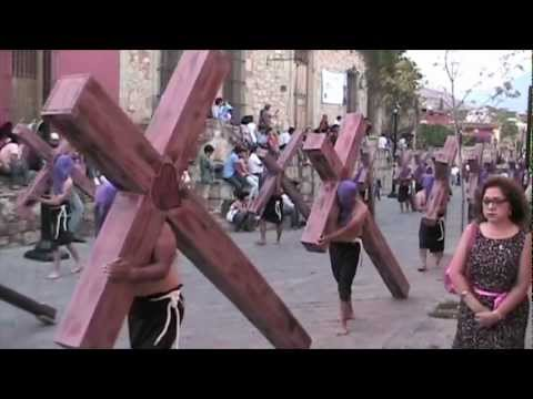 OAXACA, MEXICO - Semana Santa, Silent Procession. Easter Week Good Friday Parade 2011