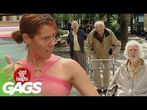 Epic Old Man - Traffic Jam Prank