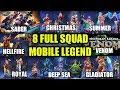 TERBONGKAR!? 8 SQUAD YANG ADA DI MOBILE LEGEND -Mobile Legends Indonesia