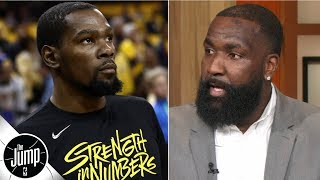 Why Kendrick Perkins thinks Kevin Durant will leave the Warriors | The Jump