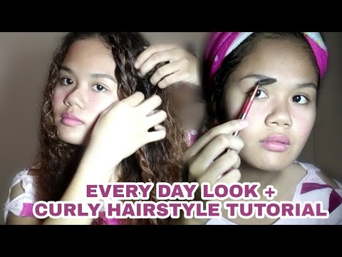 EVERYDAY LOOK + Curly Hairstyle Tutorial | Manikang Kulot