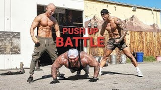 EXTREME PUSH UP BATTLE with FRANK MEDRANO | MICHEAL VAZQUEZ | BIG BOY